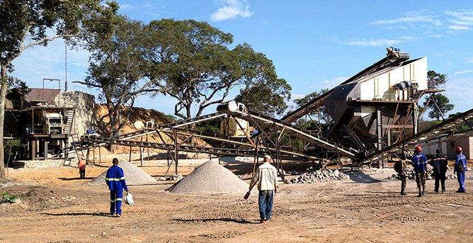 石料破碎工藝流程